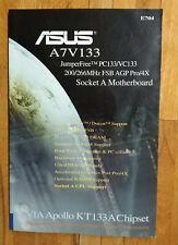 Betriebsanleitung ASUS A7V133 Mainboard ATX Manual vintage Antik Sammler