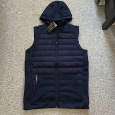 Nike Therma Synthetic Fill Mens Zip Training Vest Jacket Navy Size Medium - $90