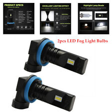 2X H11 H8 H9 LED Fog Light Bulbs Car Driving Brake Lamp DRL 6000K Truck ATV Auto