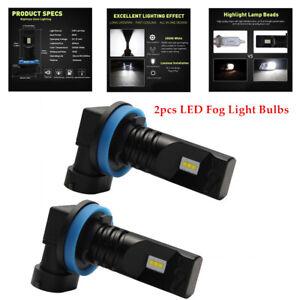 2X H11 H8 H9 LED Fog Light Bulbs Car Driving Brake Lamp DRL 6000K Truck ATV Auto