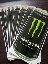 Lot of 8 Large Monster Energy Can Stickers