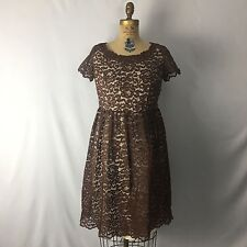 Vtg 60's Allover Floral Lace Party Dress Handmade Lined Sz M