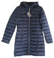 Betty Barclay Damen Jacke Steppjacke Mantel Parka lang Stepp Winter blau Kapuze