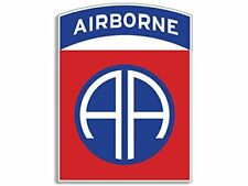 3x4 inch Red & Blue 82nd Airborne AA Logo Sticker -us insignia ssi army division