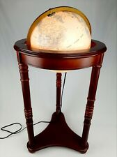 Vintage Light Up Globe/Wood Floor Lamp 3ft Tall Underwriters Laboratories