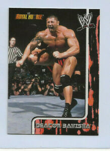 2002 DAVE BATISTA Fleer WWE Royal Rumble ROOKIE CARD #67  RARE  POPULAR