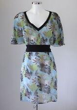 Geblümte Damenblusen, - tops & -shirts im Tunika-Stil mit Flügelärmeln