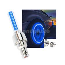 Fahrrad Ventilkappen LED Reifen Felgen Rad Speichen Licht Lampe Motorrad Blau