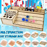 40cm Wooden Pigment Paint Bottles Rack Organizer Epoxy Tools Storage Model Box
