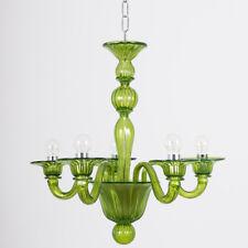 Blavet mignon lampadario in vetro di Murano 5 luci verde