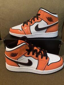 New Nike Air Jordan 1 Mid SE Turf Orange GS & Mens Sizes BQ6931-402 & DD6834-802
