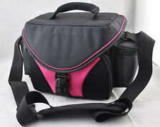 pink case CAMERA Camcorder BAG for Pentax Nikon Canon Sony VCR JVC
