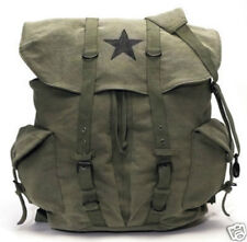 O.D. VINTAGE STAR BACKPACK NEW SCHOOL COLLEGE RUCKSACK TRAVEL MILITARY PACK