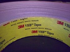 3M VHB Double Sided Foam Acrylic AdhesiveTape 4956F Gray, 1 in x  3FT, or 1 YD