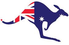 Aussie Kangaroo riempita con bandiera australiana-adesivo vinile 18 cm x 12 cm