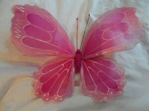fairy butterfly wings window display home decor pastel goth cerise pink festival