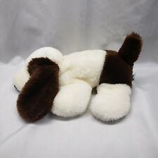 """Dakin Stuffed Plush Puppy Dog White Brown Vintage 1985 13"""" Basset Hound"""