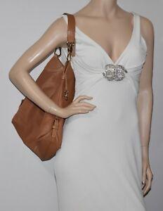 Dooney & Bourke Large Tan Leather Shoulder Bag
