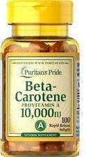 Beta Caroteno *** gigante 100 cápsulas 10,000 UI *** GRATIS UK FRANQUEO