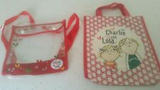 Two Charlie And Lola  Bags, small tote style & mini backpack