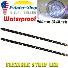 2 X Flexible Waterproof 90CM LED Strip Light 2835 SMD for Car Motor Truck Boat