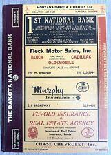 1966 Polk's Bismarck Mandan North Dakota City Directory Book Ads Genealogy