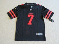 S.F. 49ers #7 KAEPERNICK Retro Black Stitch Jersey Men M New Sweet^