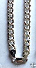 "Cuban Sterling Silver 925 Men/Women's Cuban Curb Link Chain Necklace-7MM 24"""