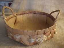 "Wood Basket Fruit Decoration 10"" Diameter"