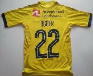 Broendby Brøndby IF Hummel Home Shirt Denmark #22 Agger fodboldtrøje