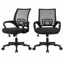 2 Pack Ergonomic Office Chair Executive Swivel Computer Desk Task Chair Black