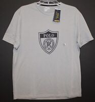 Polo Ralph Lauren Mens Gray POLO Crest Athletic Crewneck Shirt NWT Size M