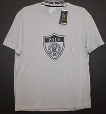 Polo Ralph Lauren Mens Gray POLO Crest Athletic Crewneck Shirt NWT Size XL