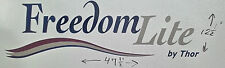 FREEDOM LITE by THOR RV MOTORHOME TRAILER CAMPER DECAL GRAPHIC 47X12 BLUEREDGOLD