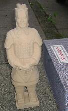 China Krieger Figur Feng Shui Gartenfigur Terrakotta Optik 36cm