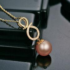 18ct Yellow Gold Stunning Natural 11-12mm Pearl & Diamond Pendant VVS