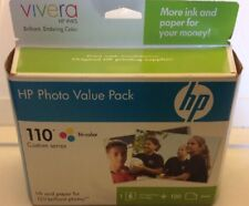 "HP Photo Value Pack 110 Tri-Color Ink Cartridge & 120 4"" x 6"" Photo Paper"