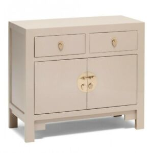 Made to Order Golden Dragon Oriental Painted Solid Wood Off-White Sideboard