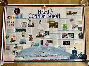 A History of Naval Communication large poster 1983 Marconi Broadcasting (Essex)