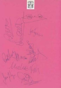 Coventry City FC - Signed Team Sheet - COA (14929)