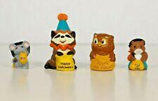 "Hallmark Merry Miniatures - Halloween ""Trick or Treat"" Wildlife (lot of 4)"