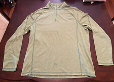 Paradise Collection Mens Long Sleeve 1/4 Zip Green Size Large Hiking Outdoor