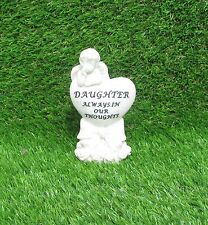 MEMORIAL ANGEL ON HEART - DAUGHTER - GRAVE OR CEMETERY ORNAMENT