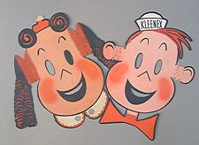 Vintage Little Lulu & Tubby Kleenex Advertising Character Masks