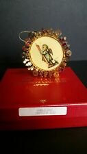 Hummel Gold Christmas Ornament Candlelight 1988 In Original Box