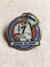 Vintage Pair of John Elway Hall of Fame 2004 & 1997 Broncos Collectors Pins