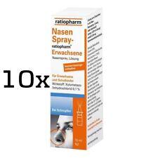 10x NASENSPRAY ratiopharm Erwachsene kons.frei 15 ml PZN 00999848