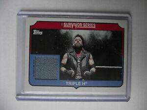 2018 Topps Heritage WWE -Triple H Survivor Series Mat Relic 173/299