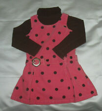 Girls Pumpkin Patch Polka Dot Jumper  - size 3 - EUC