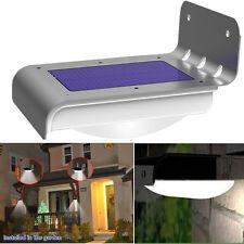 16 LED Lámpara Solar Power PIR Sensor Movimiento Light Jardín Patio Luz Pared